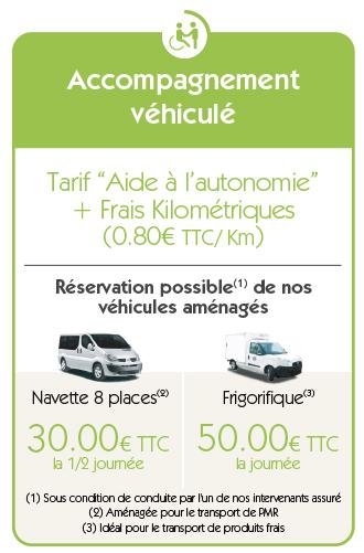 tarif véhicule